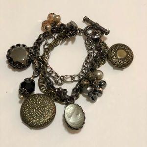 Vintage Signed Rare Miriam Haskell Bracelet